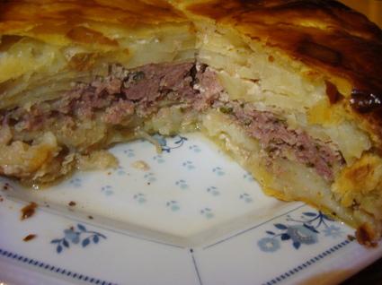 Recette de pâté du limousin, pommes de terre et viande