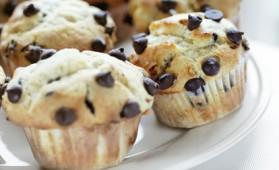 Muffins aux pépites de chocolat pour 4 personnes