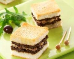 Recette mini-croque au concassé d'olives noires et à la sardine
