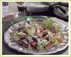 Recette salade composée aux moules et à la tomate
