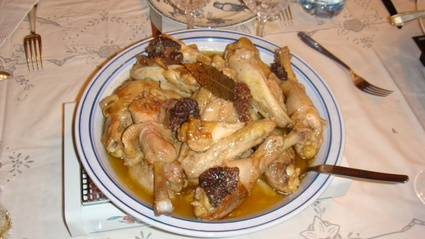 Recette de poulet au vin jaune et aux morilles