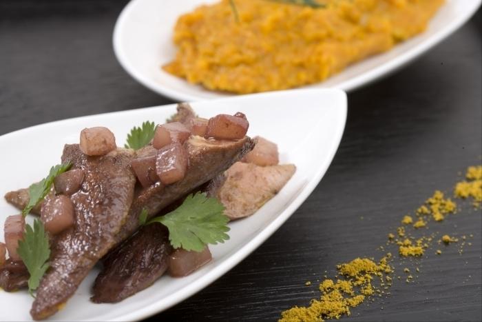 Recette de aiguillettes de canard et purée de potiron aux épices à ...