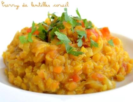 Recette de curry de lentilles corail (dahl)