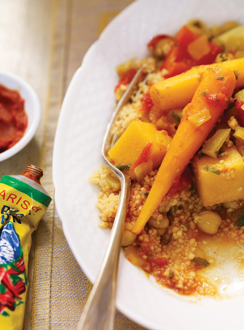Couscous de légumes et pois chiches à la mijoteuse | ricardo