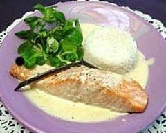 Recette pavés de saumon et leur crème à la vanille