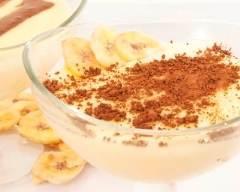 Recette mousse à la banane et au cacao