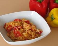 Recette risotto aux poivrons
