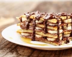 Recette pancake façon tiramisu à la banane, confiture de lait et ...