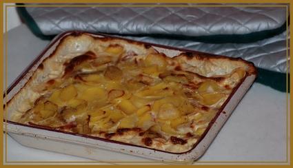 Recette de gratin aux pommes de terre, munster et jambon cru