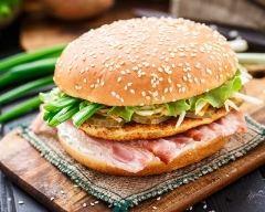 Recette burger au bacon et galette de pommes de terre