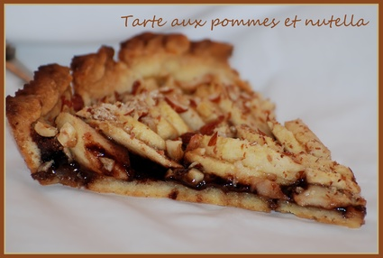 Recette de tarte aux pommes et nutella