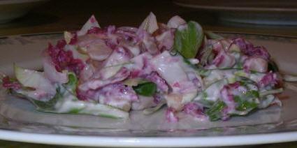 Recette de salade d'endives au chou rouge et haricots blancs