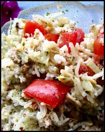 Recette de salade de quinoa au soja