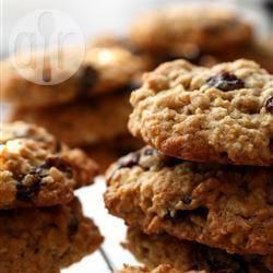 Recette cookies à la cannelle, aux flocons d'avoine et aux raisins ...