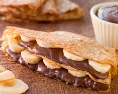 Recette crêpes aux bananes et au chocolat