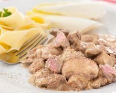 Recette sauté de veau aux champignons au cookeo