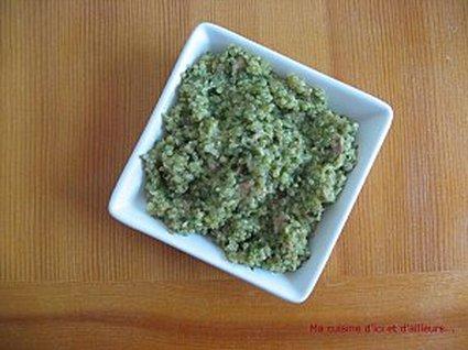 Recette de risotto de quinoa aux épinards, thon et parmesan