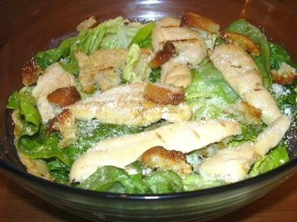Recette de salade de poulet césar