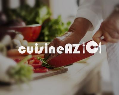 Brochettes de sardines, courgettes et poivrons au gaspacho ...