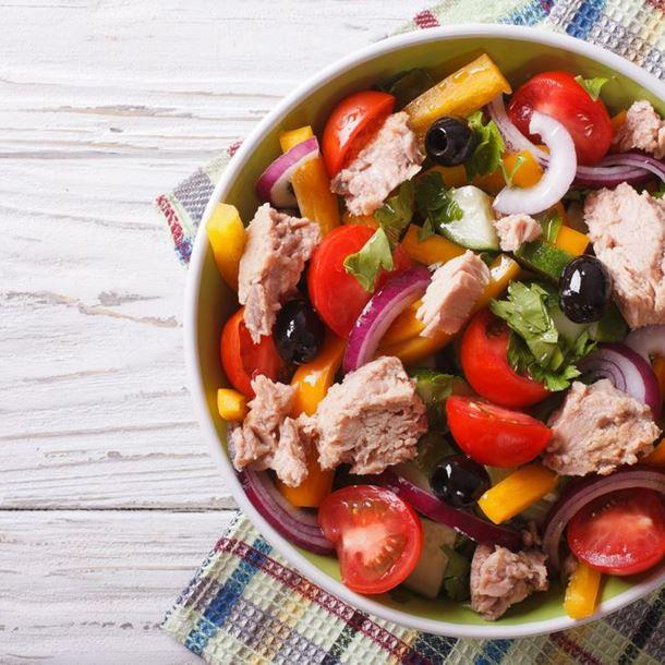 Recette salade de thon aux légumes grillés