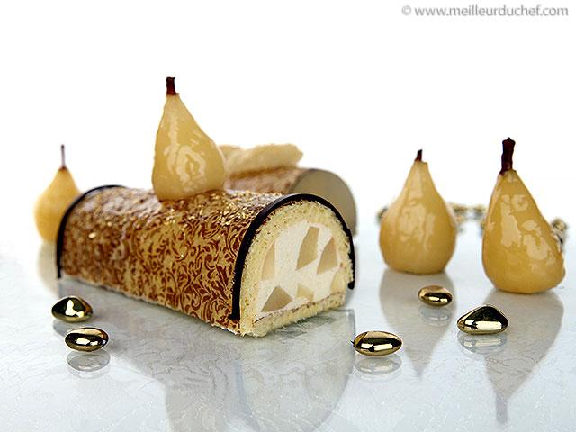 Bûche à la mousse de poire  fiche recette avec photos ...