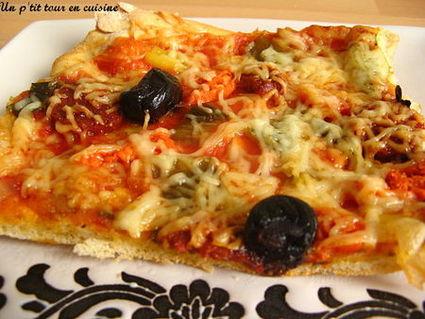 Recette de pizza au chorizo et poivron