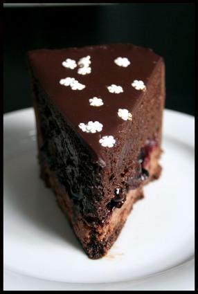 Entremets chocolat, cassis et vinaigre balsamique