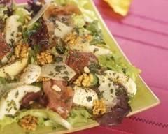 Recette salade au jambon cru et au basilic