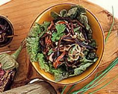 Recette salade d'aubergines au cumin