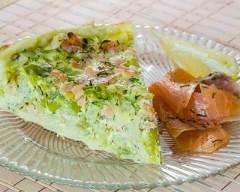 Recette quiche au saumon fumé et poireaux