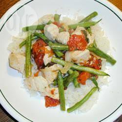 Recette poulet à la tomate et aux haricots verts – toutes les recettes ...