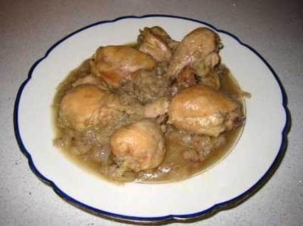 Recette de poulet aux oignons à la bière