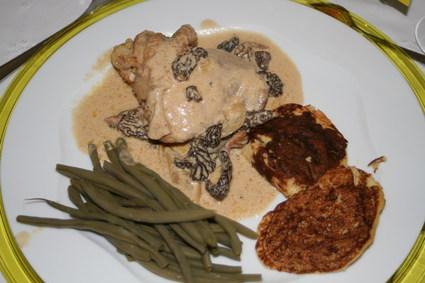 Recette de poulet de bresse à la crème et aux morilles