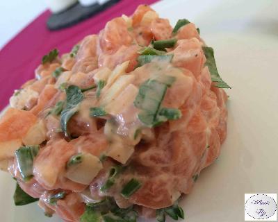 Recette tartare du saumon gourmand