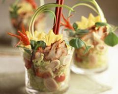 Recette salade de poulet tandoori à l'ananas en verrine