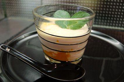 Recette de panna cotta au lait de coco sur coulis de mangues