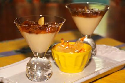 Recette de panna cotta bergamote et compote de mirabelles