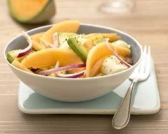 Recette salade de melon du haut-poitou igp, avocat