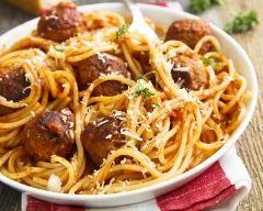 Recette spaghetti aux boulettes de veau