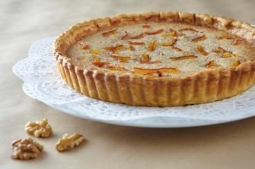 Recette de tarte moelleuse aux noix et écorces d'oranges confites ...