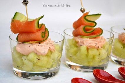 Recette de verrines de concombre au citron vert et crème de ...