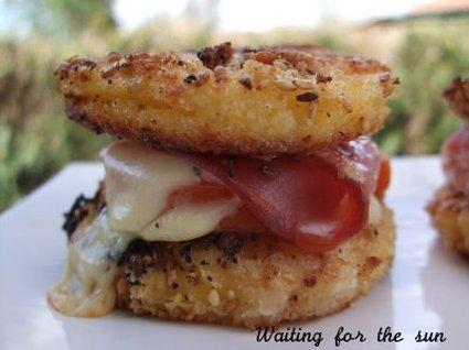 Recette de hamburgers de polenta panée