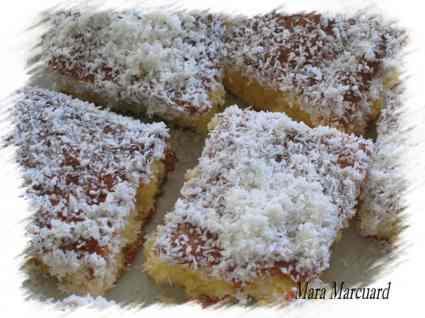 Recette de gâteau à la noix de coco frais