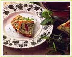 Recette gâteau de courgettes aux herbes
