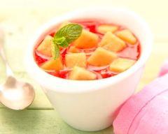 Recette salade de melon du quercy igp au coulis de fraise à la ...