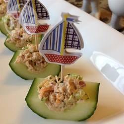 Recette barquettes de concombres au thon et aux légumes – toutes ...