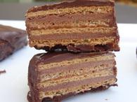 Recette de carrés de gaufrettes choco-caramel