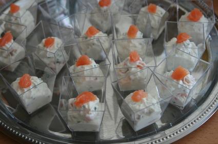 Recette de verrines saumon-ricotta