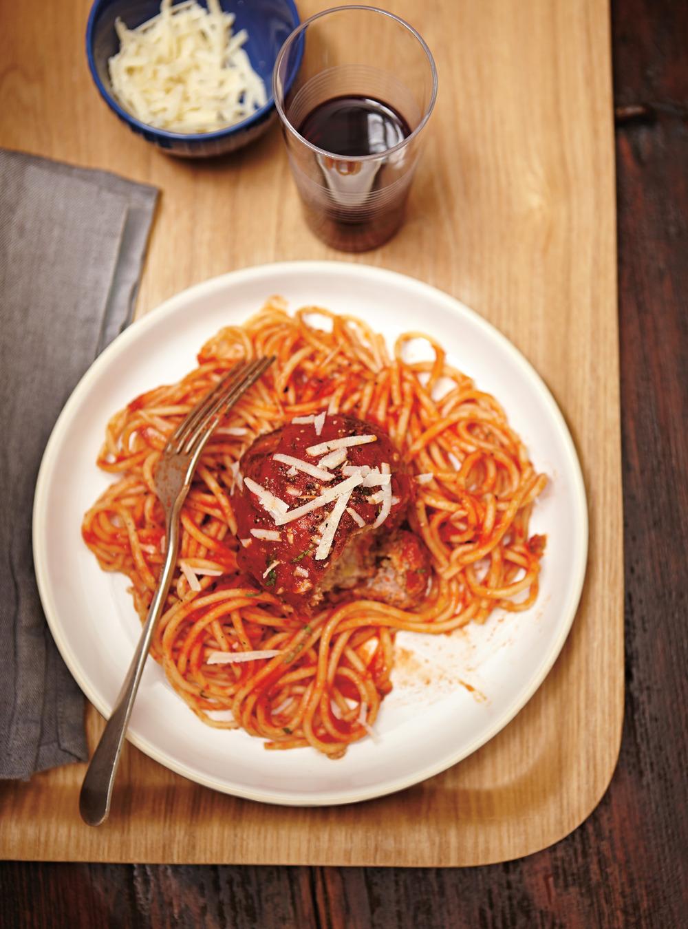 Spaghettis à la boulette géante | ricardo
