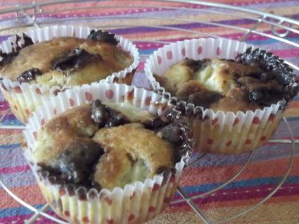 Recette de muffins banane crunch